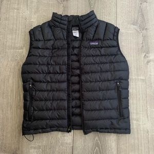 Men's Medium Black Patagonia Puff Vest NWOT